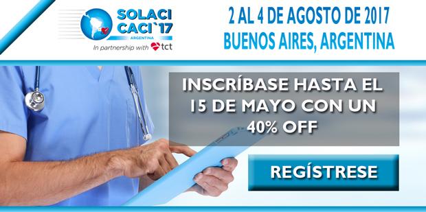 inscripciones SOLACI-CACI 40% de descuento