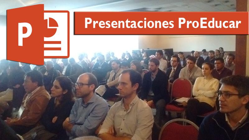 presentaciones ProEducar