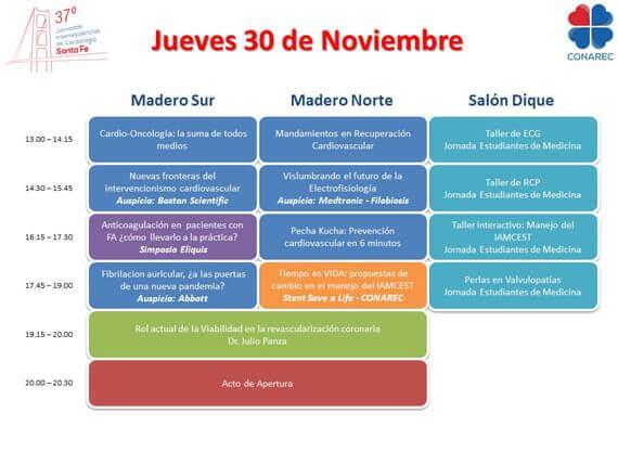 Programa Jornadas Interresidencias de Cardiología CONAREC
