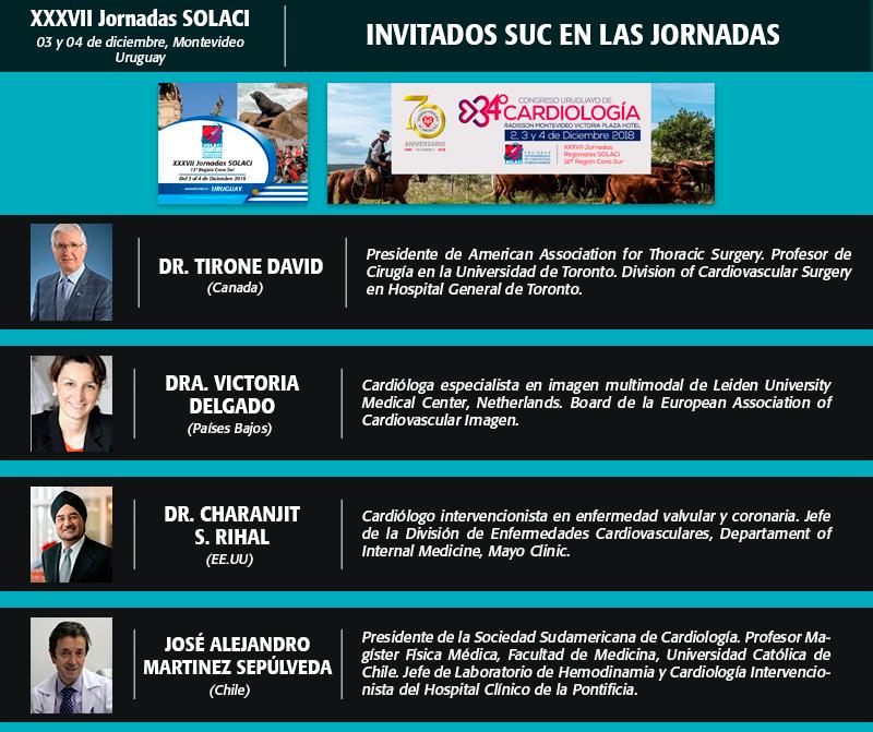 Invitados SUC en las Jornadas SOLACI