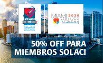 Miami Valves 2020| 50% off para miembros SOLACI