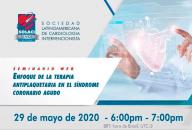 Webinar SOLACI - 29/05 - Enfoque de la terapia antiplaquetaria en el Síndrome Coronario Agudo