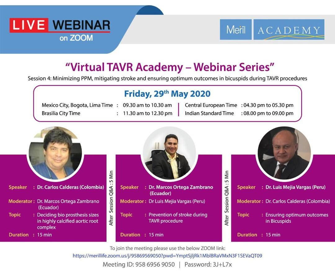 Webinar SOVECI - Virtual TAVI Series