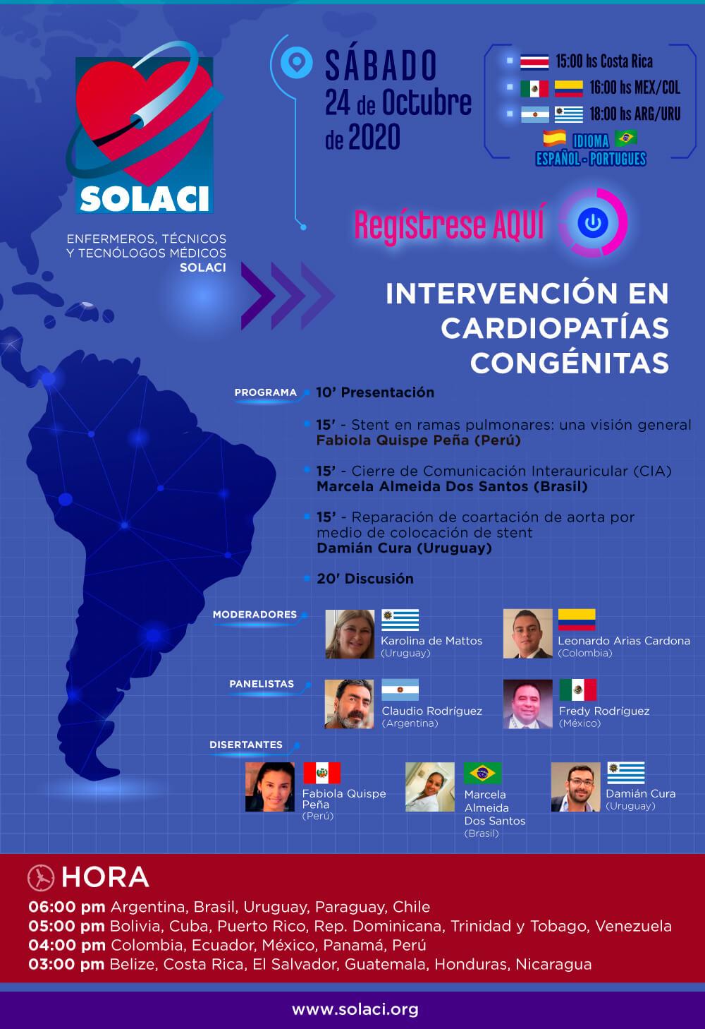 Webinar SOLACI | Intervención en Cardiopatías Congénitas